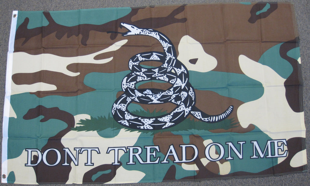 3'X5' Dont Tread On Me Polyester Flag Camoflouge Gadsen