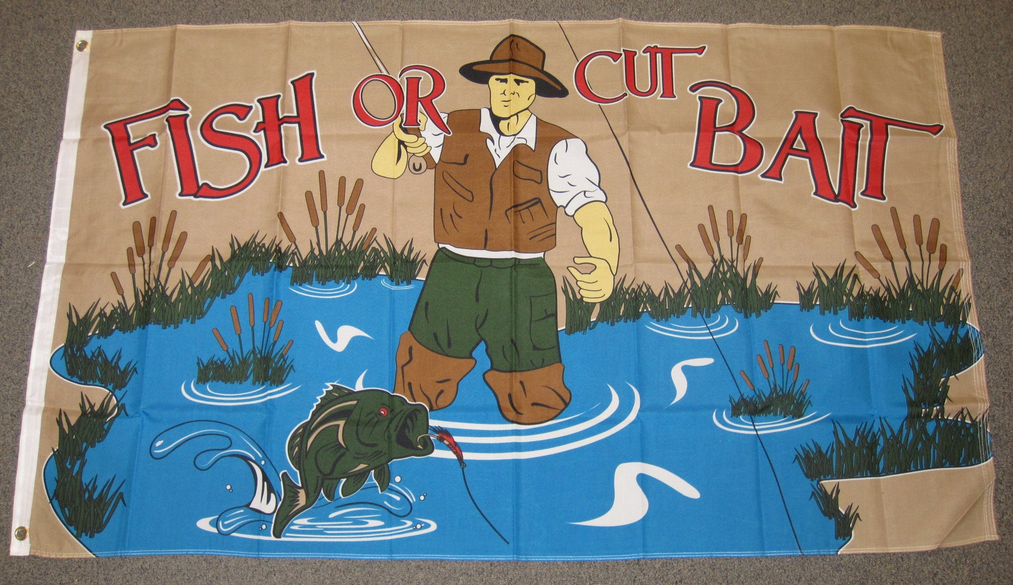 3'X5' Fish Or Cut Bait Polyester Flag FISHING Trout