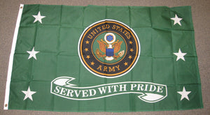 3'X5' Served With Pride United States Army Polyester Flag