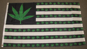 3'X5' Marijuana USA Polyester Flag Green Weed Pot Leaf