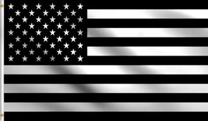 3x5 Black White American Polyester Flag Usa