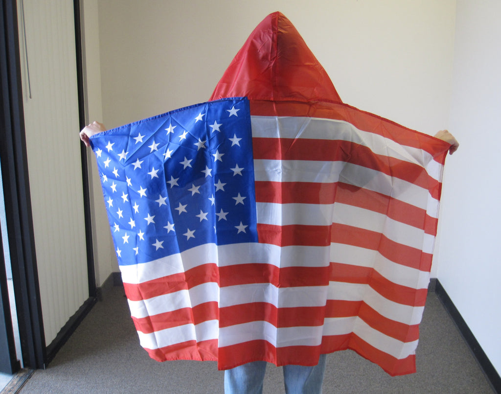 3'X5' USA Hooded Cape Polyester Flag American United States