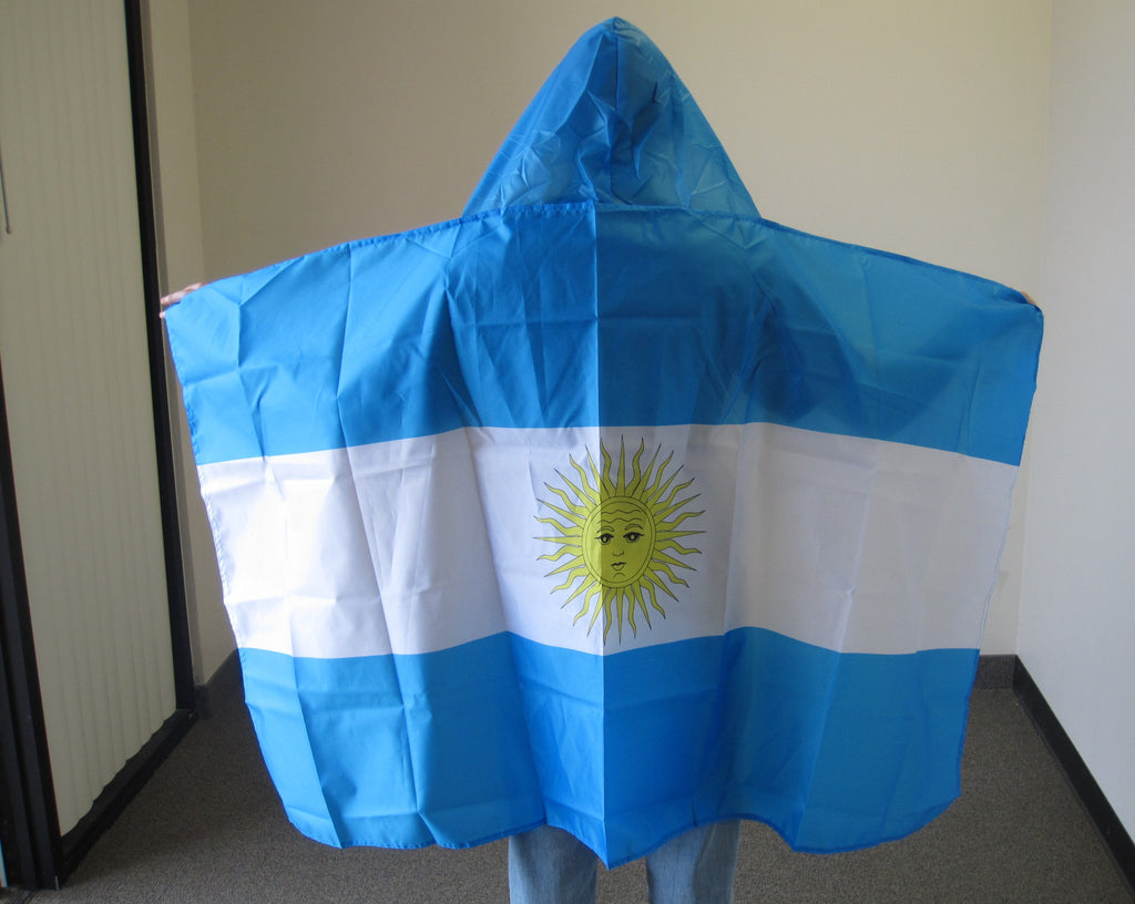 3'X5' Argentina Hooded Cape Polyester Flag