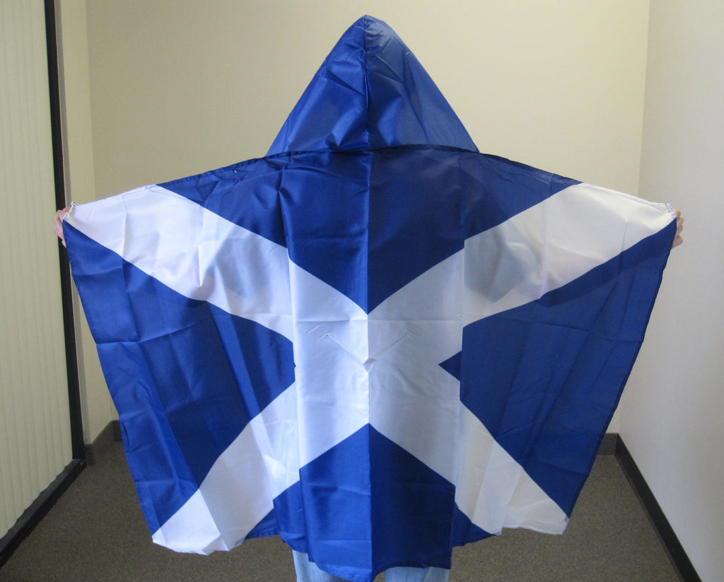 3'X5' St Andrew Cross Hooded Cape Polyester Flag Scotland