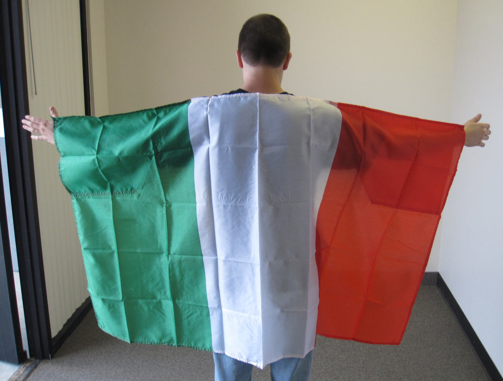 3'X5' Italy Cape With Sleeves Polyester Flag Italian