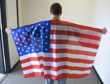 3'X5' USA Cape With Sleeves Polyester Flag American United States
