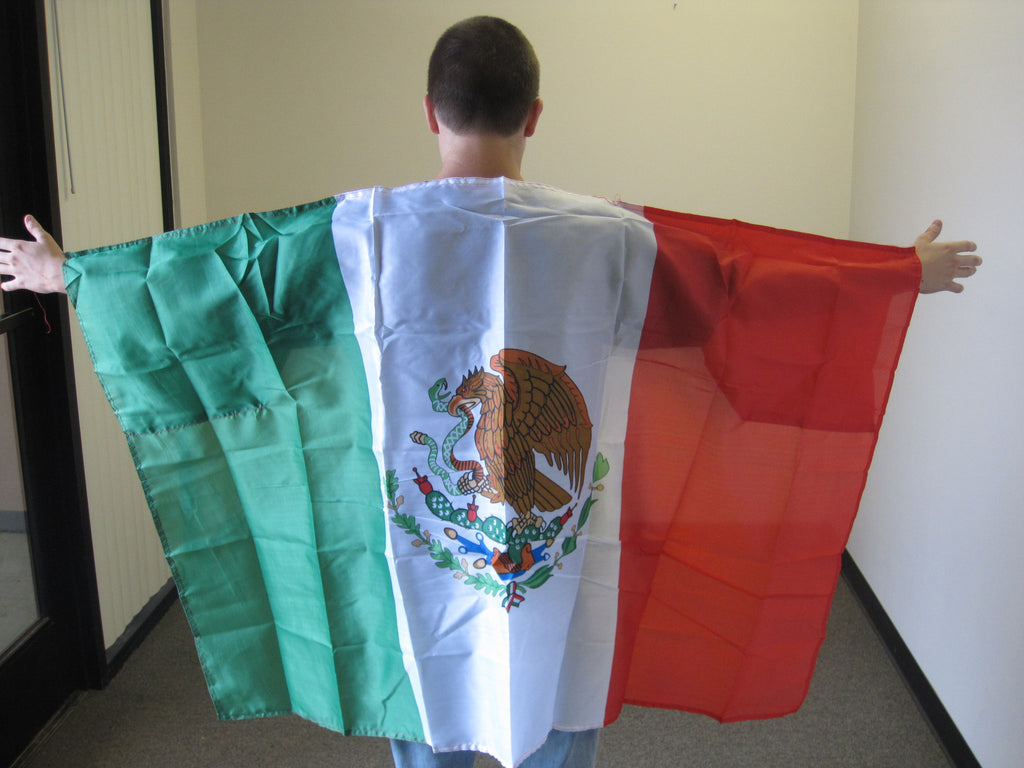 3'X5' Mexico Cape With Sleeves Polyester Flag Mexican