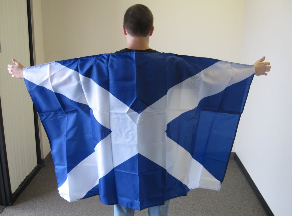 3'X5' St Andrews Cross Cape With Sleeves Polyester Flag Scotland