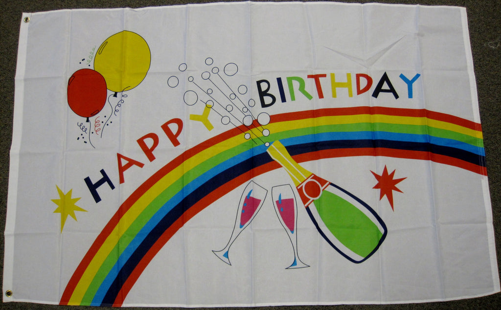 3'X5' Happy Birthday Party Polyester Flag