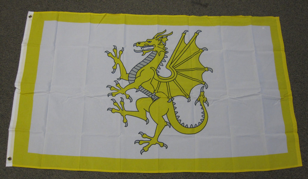 3'X5' Golden Dragon Polyester Flag Welsh Wales United Kingdom