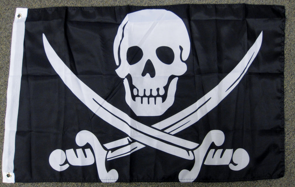 2'X3' Calico Jack Rackham Pirate Polyester Flag