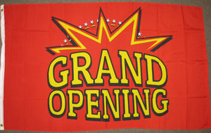 3'X5' Grand Opening Red Polyester Flag