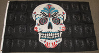 3'X5' Sugar Skull Head Polyester Flag Pirate Day Of The Dead