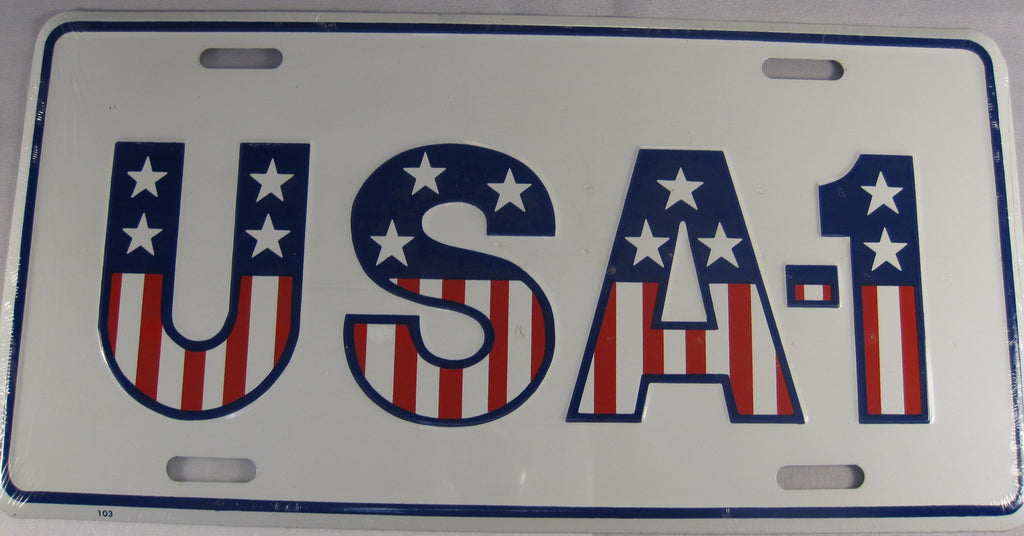 USA - 1 Aluminum Embossed License Plate