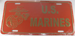 U.S Marines Aluminum Embossed License Plate