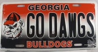 Univeristy of Georgia Go Dawgs UGA Aluminum Embossed License Plate