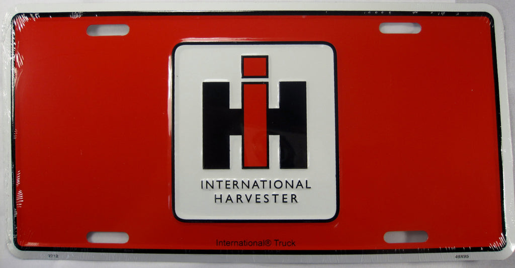 International Harvester Aluminum Embossed License Plate