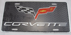 Corvette Chevy Racing Chevrolet Aluminum Embossed License Plate