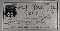 Route 66 Get Your Kicks Main Street Of America Aluminum Embossed License Plate