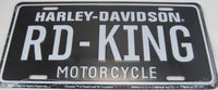 Harley Davidson Road King  Aluminum Embossed License Plate