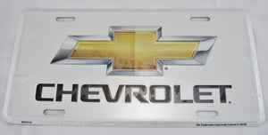 Chevrolet White Aluminum Embossed License Plate