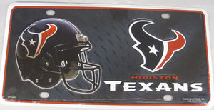 Houston Texans Aluminum Embossed License Plate