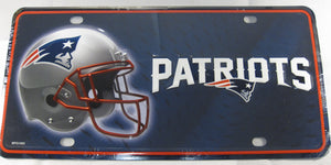 New England Patriots Aluminum Embossed License Plate