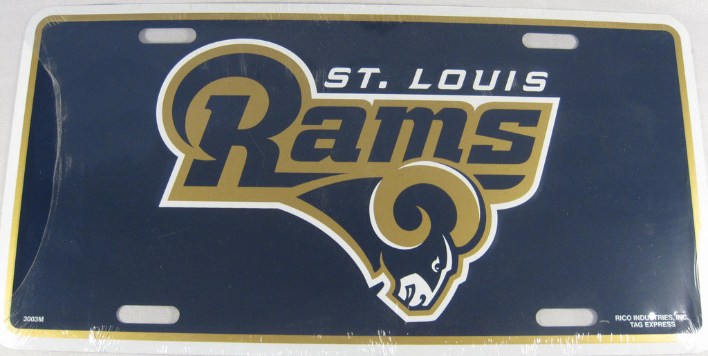 St. Louis Rams Aluminum Embossed License Plate