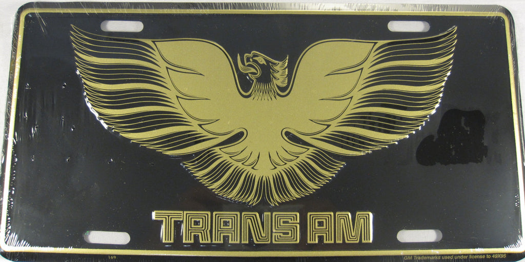 Pontiac Trans Am Gold Eagle Aluminum Embossed License Plate