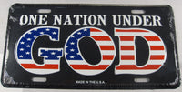 One Nation Under God American Flag Aluminum Embossed License Plate