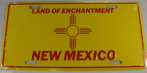 New Mexico State Flag NM Aluminum Embossed License Plate
