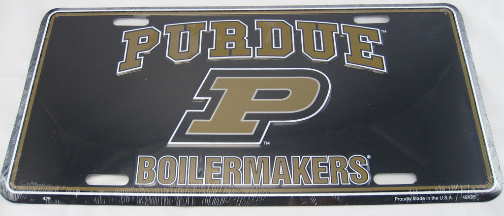 Purdue University Boilermakers Aluminum Embossed License Plate