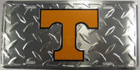 University Of Tennessee UOT Volunteers Diamond Plate Aluminum Embossed License Plate