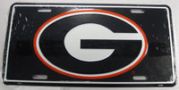 University of Georgia Bulldogs UGA Aluminum Embossed License Plate