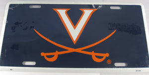 University of Virginia UVA Cavaliers Aluminum Embossed License Plate