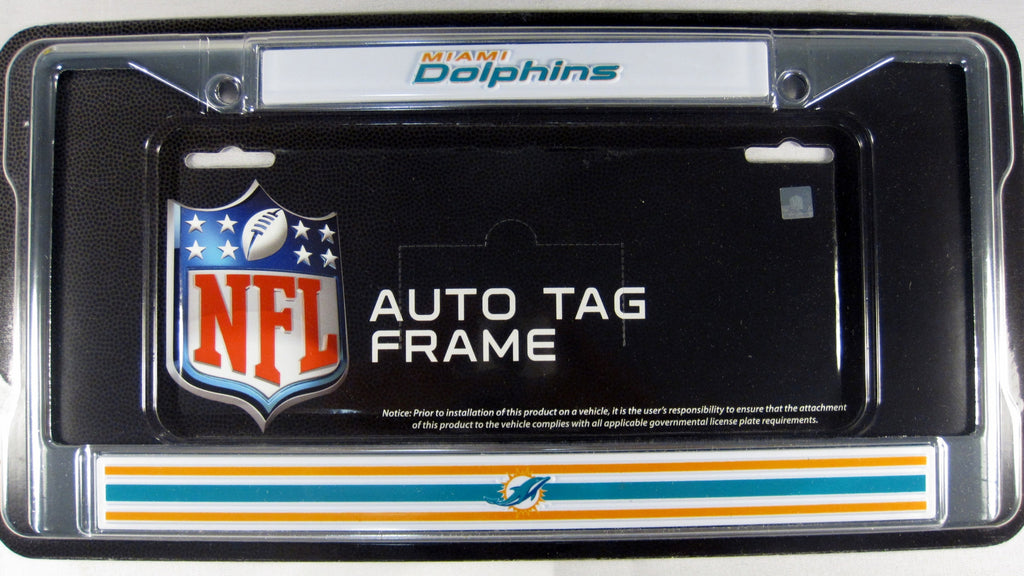 Miami Dolphins Metal License Plate Frame
