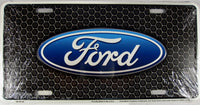 Ford Honeycomb Trucks Aluminum Embossed License Plate