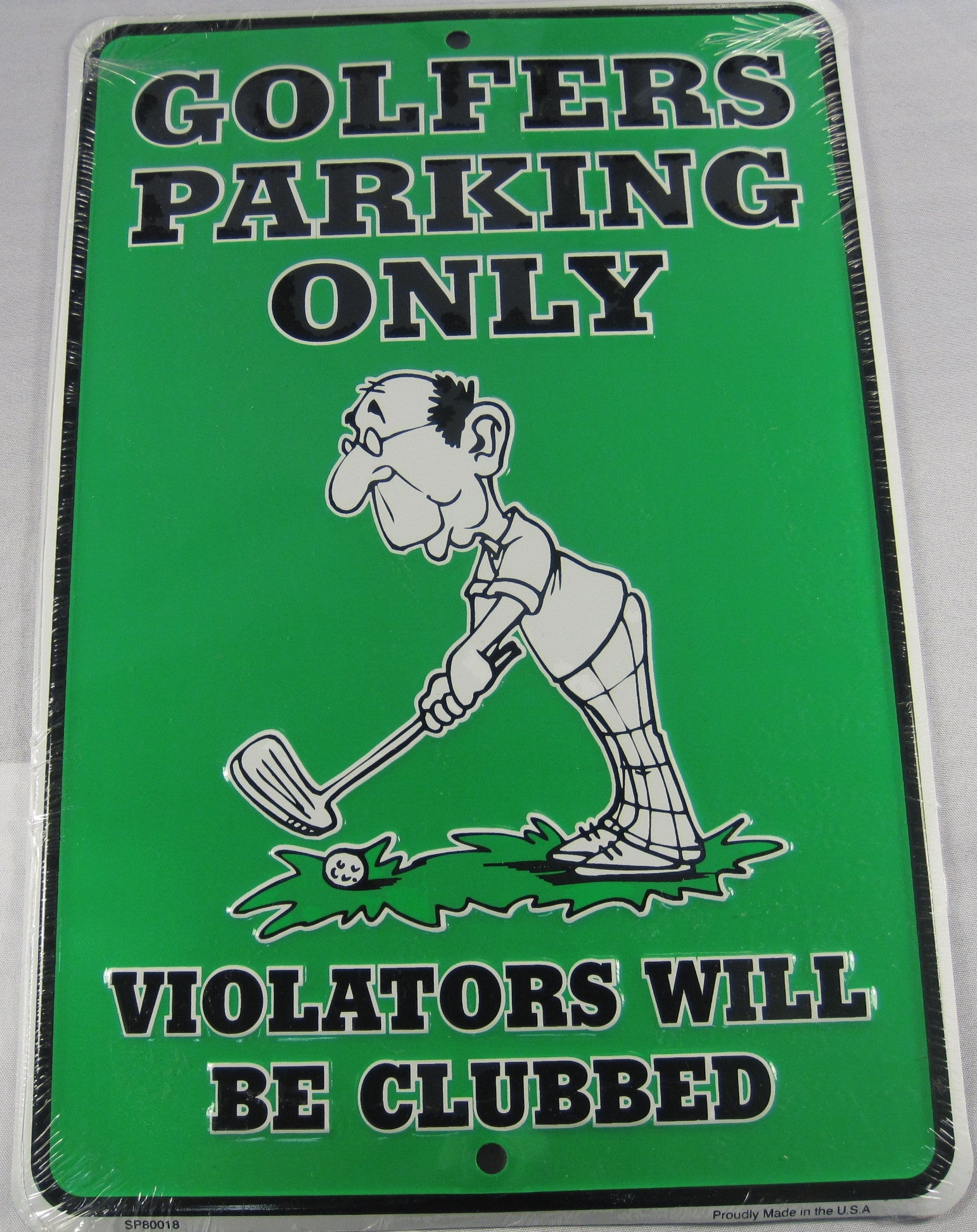 GOLFers Parking Only GOLF CLUB Aluminum Embossed License Plate