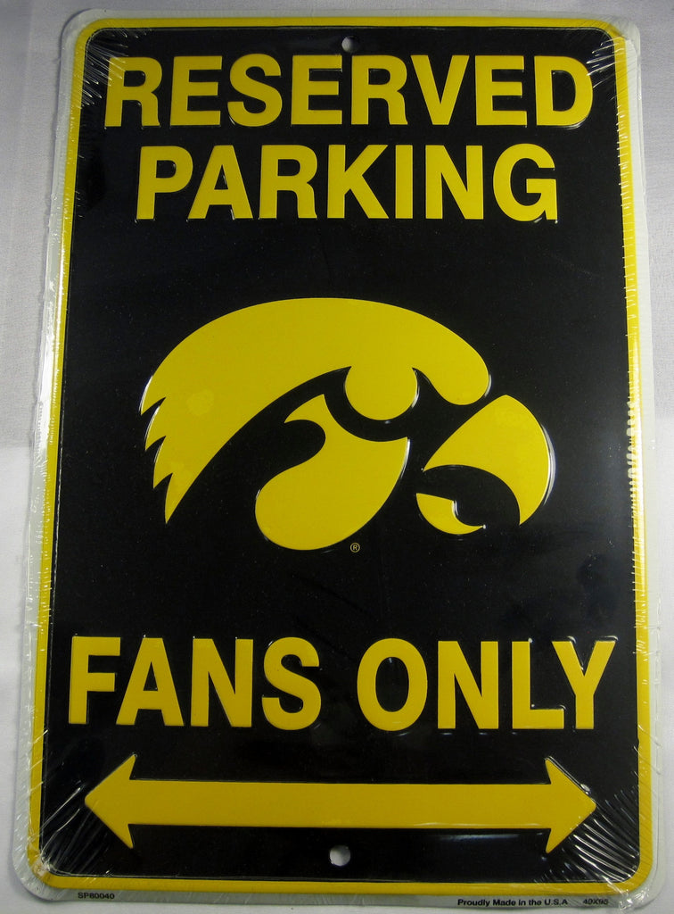 University Of Iowa Hawkeyes Fans Reserved Parking Sign Aluminum Embossed License Plate
