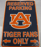 University Of Auburn Tiger Fans Reserved Parking Sign Aluminum Embossed License Plate