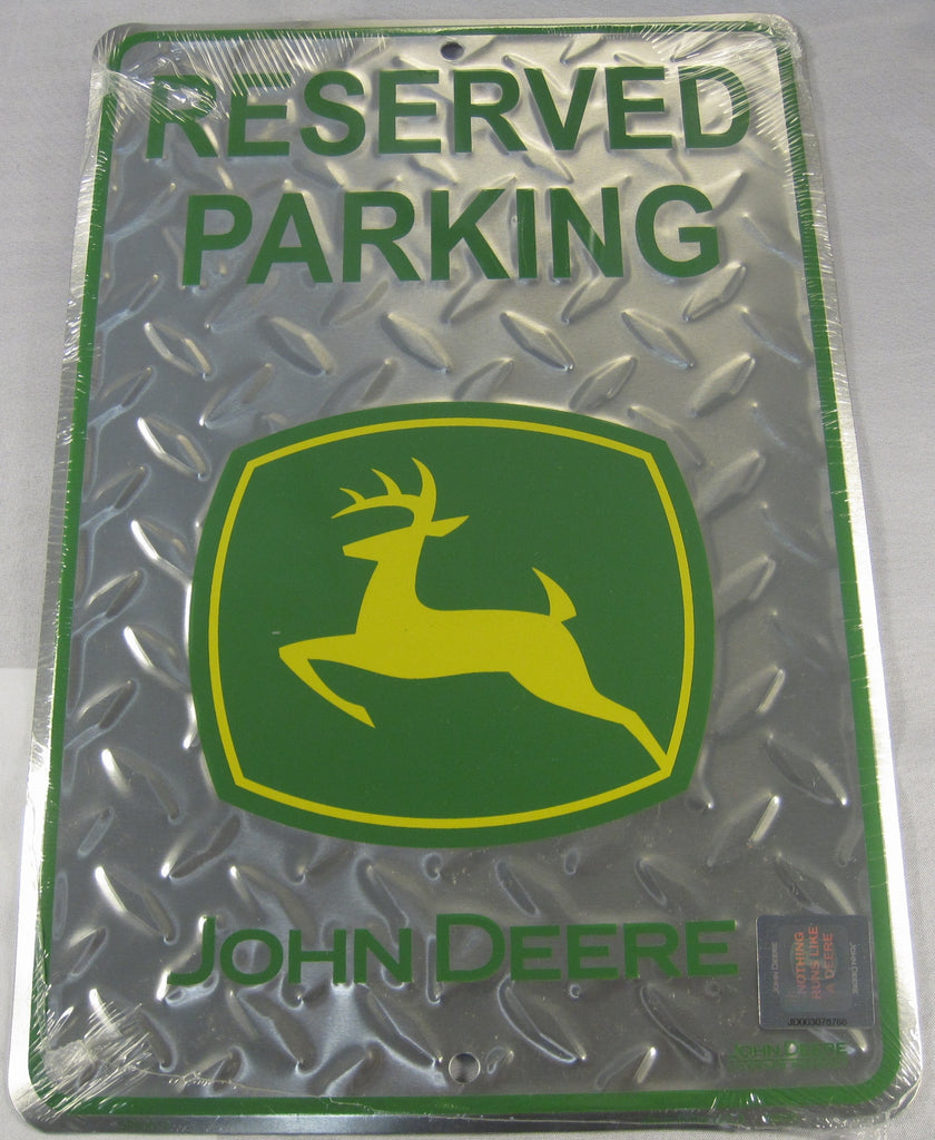 Reserved Parking John Deere Tractor Diamond Plate Sign Aluminum Embossed License Plate