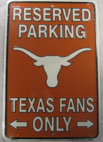 University Of Texas Longhorns Fans Parking Only Aluminum Embossed License Plate