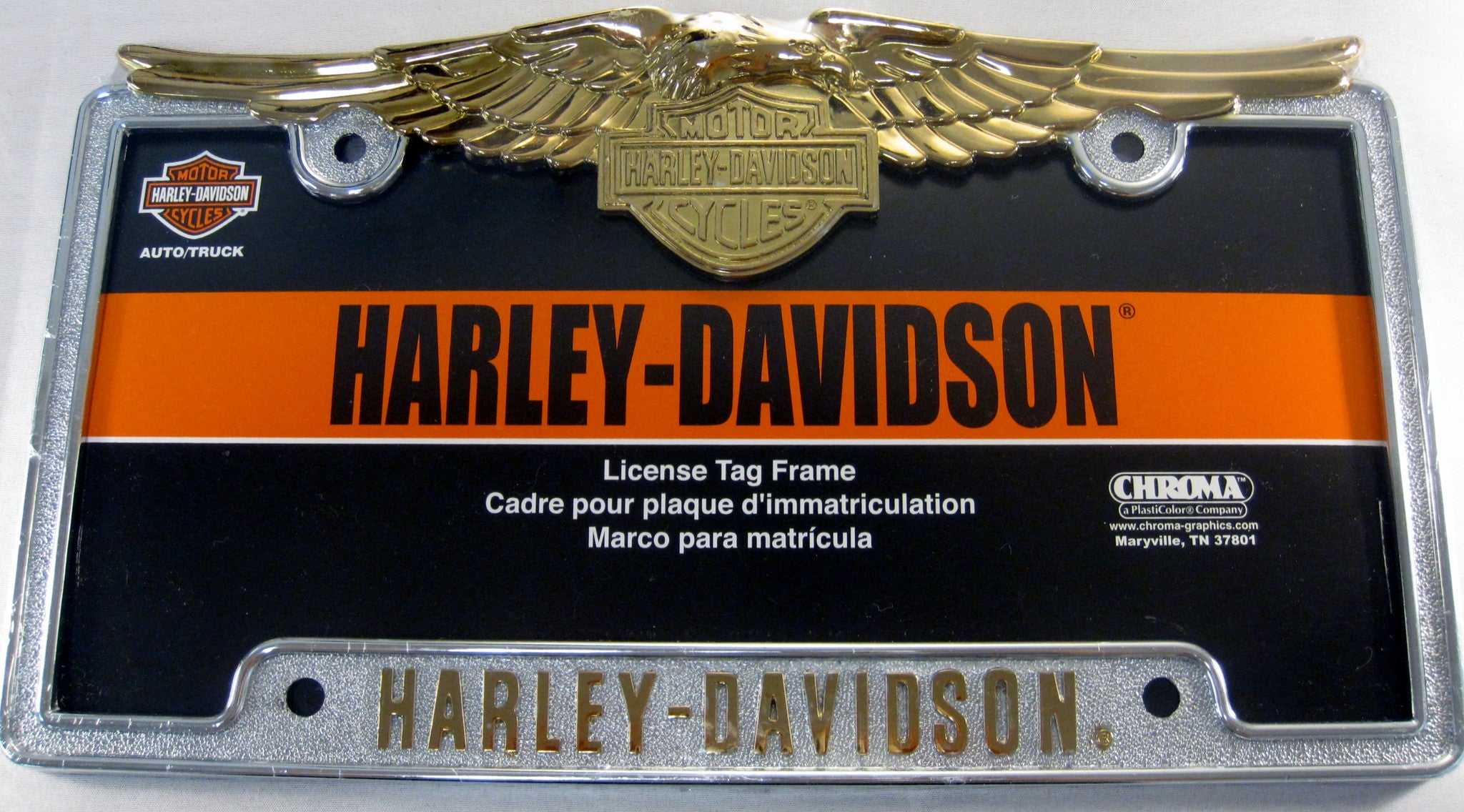 Harley Davidson Wings Chopper Motorcycle Metal License Plate Frame ...
