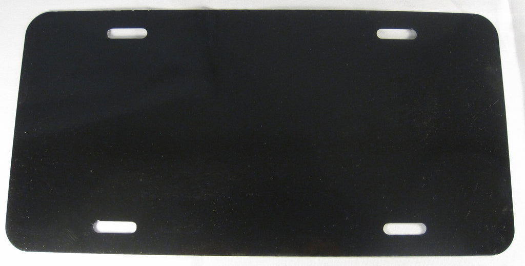 Blank Black Make Your Own Sign Aluminum Embossed License Plate