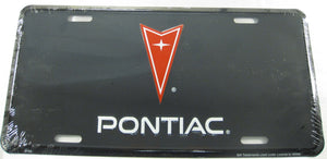 Pontiac GM Black Aluminum Embossed License Plate