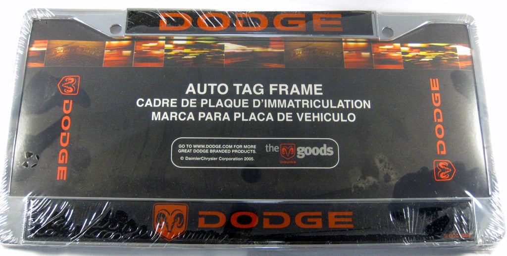 Dodge Ram Chomo Red Logo Metal License Plate Frame