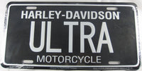 Harley Davidson Motorcycles Ultra Aluminum Embossed License Plate