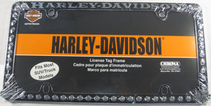 Harley Davidson Rivets Chopper Motorcycle Metal License Plate Frame