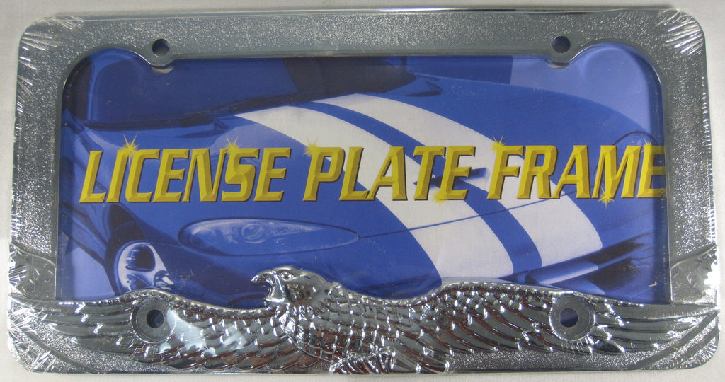 Eagle Chrome Metal License Plate Frame