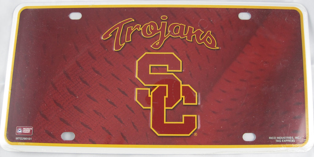 University of Southern California SC Trojans Aluminum Embossed License Plate